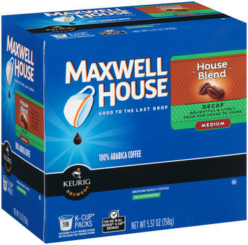 Maxwell House Decaf House Blend Coffee K-Cup® Packs 18 ct Box