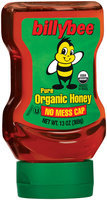 Honey Pure Organic Billybee Honey 13 Oz Squeeze Bottle