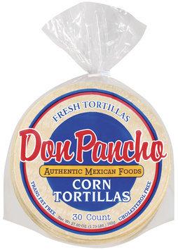 Don Pancho Corn 30 Ct Tortillas 27.6 Oz Bag