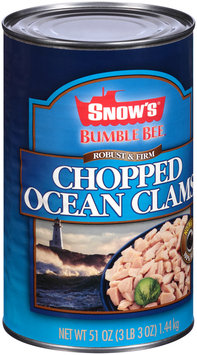 Snow's® Bumble Bee® Robust & Firm Chopped Ocean Clams 51 oz. Can
