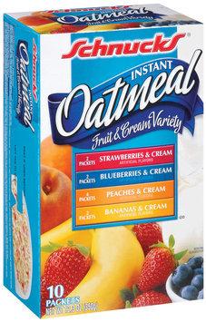 Schnucks Fruit & Cream Variety Instant Oatmeal 10 Ct Box