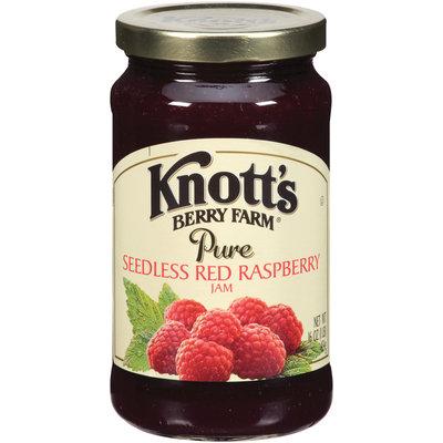 Knott's Berry Farm Pure Seedless Red Raspberry Jam 16 Oz Jar