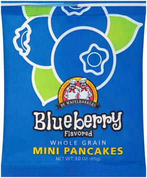 De Wafelbakkers® Blueberry Whole Grain Mini Pancakes 3.0 oz. Bag