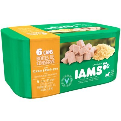 Iams™ Classic Pate with Chicken & Rice in Gravy Dog Food 6-13.2 oz. Cans