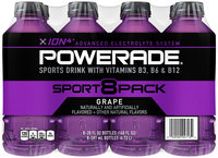 Powerade ION4 Grape 8 pk, 20 oz Plastic Bottles