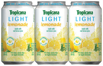Tropicana® Light Lemonade Flavored Juice Drink 6 Pack 12 fl. oz. Cans