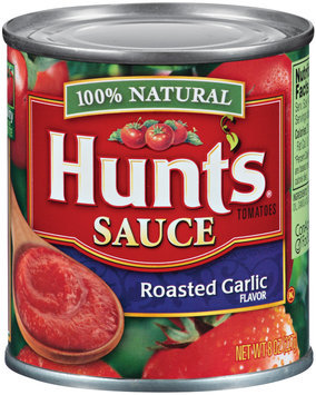 Hunt's Roasted Garlic Flavor Tomatoes Sauce 8 Oz Can