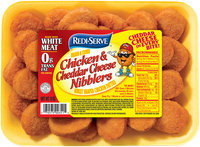 Redi-Serve™ Breaded & Cooked Chicken & Cheddar Cheese Nibblers 8 oz. Tray