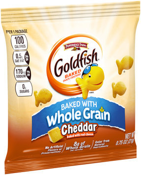Pepperidge Farm® Goldfish® Whole Grain Cheddar Baked Snack Crackers 0.75 oz. Bag