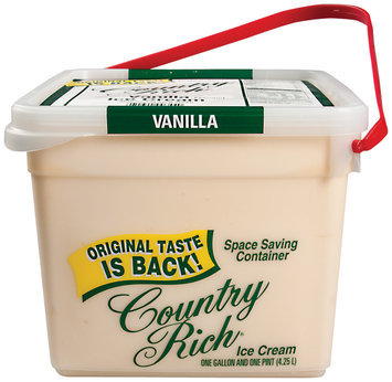 Country Rich Vanilla Flavored Sg Ice Cream 4.25 L Pail