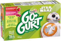 Yoplait® Go-Gurt® Star Wars™ Strawberry/Mixed Berry Portable Low Fat Yogurt Variety Pack 16-2 oz. Tubes