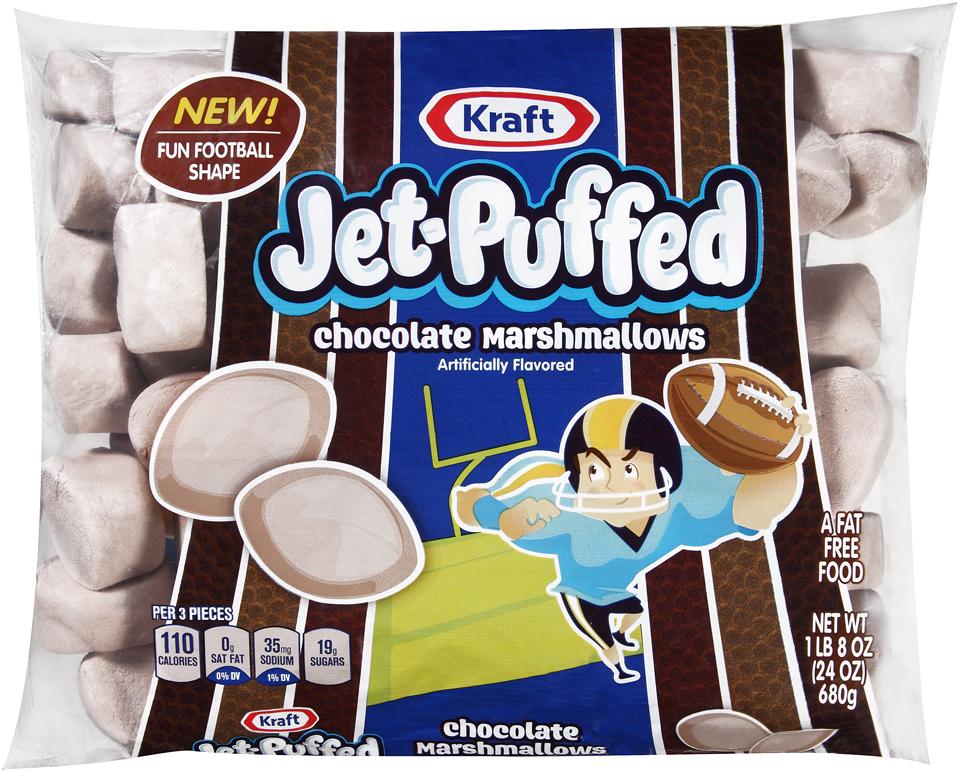 Kraft Jet-Puffed Chocolate Football Marshmallows 24 oz. Bag