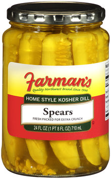 Farman's®Home Style Kosher Dill Spears 24 fl oz Jar