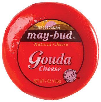 May-Bud Gouda Natural Cheese 7 Oz Wheel