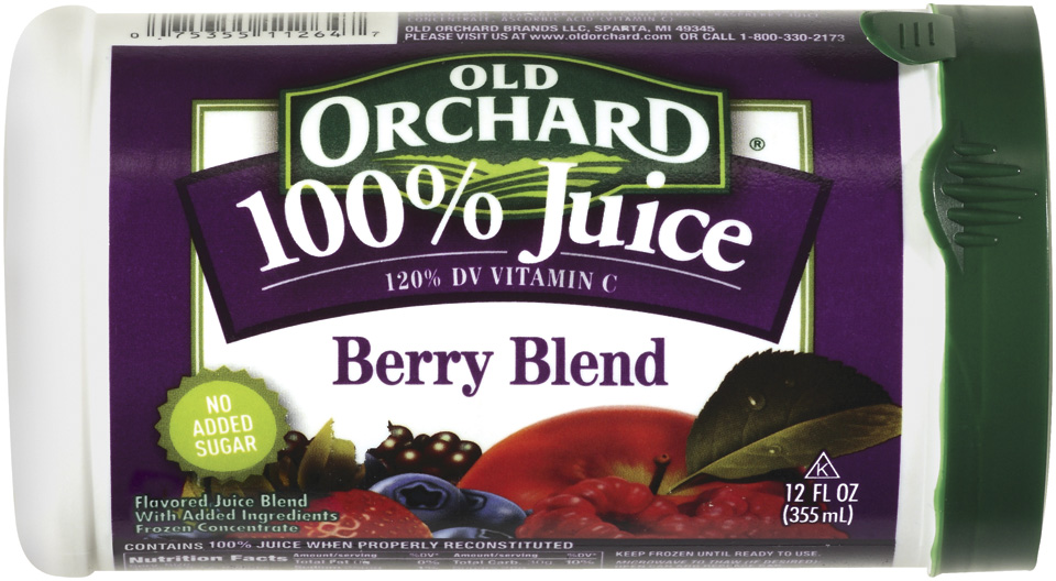 Old Orchard 100% Juice Berry Blend Concentrate  Frozen 12 Oz Canister