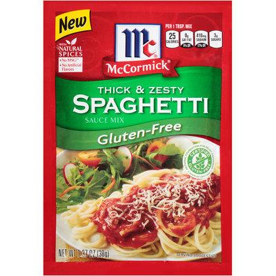 McCormick® Thick & Zesty Spaghetti Gluten-Free Sauce Mix 1.37 oz. Packet
