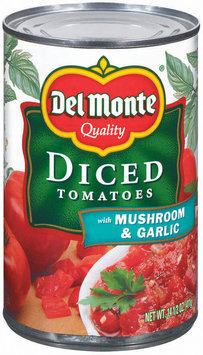 Del Monte® Diced Tomatoes with Mushroom & Garlic