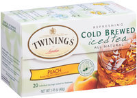 Twinings of London® Peach Refreshing Cold Brewed Iced Tea Bags 20 ct