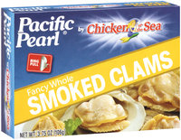 Pacific Pearl® by Chicken of the Sea® Smoked Clams 3.75 Oz Box