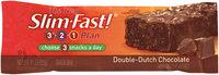 SlimFast 3.2.1 Plan Double Dutch Chocolate Snacks Bar