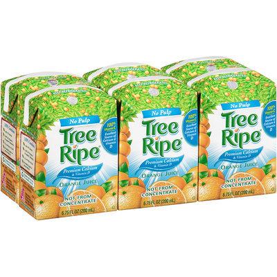 Tree Ripe® No Pulp Premium Calcium & Vitamin D Orange Juice 6-6.75 fl oz. Carton.
