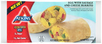 Atkins® Egg with Sausage and Cheese Burrito 12-6 oz. Packs