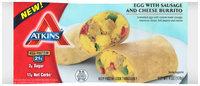 Atkins® Egg with Sausage and Cheese Burrito 12-6 oz. Packs