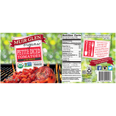 Muir Glen™ Organic Fire Roasted Petite Diced Tomatoes 14.5 oz. Can