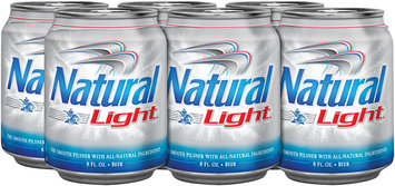 NATURAL LIGHT 8 oz Single & Beer 6 PK CANS