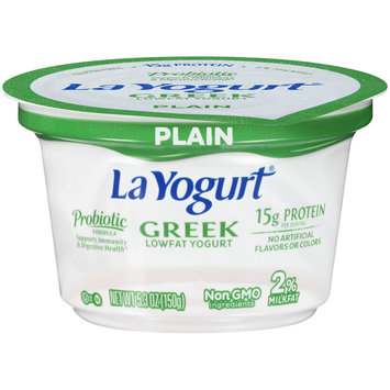La Yogurt® Probiotic Plain Greek Lowfat Yogurt 5.3 oz. Cup