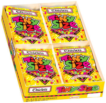 Chiclets Tiny Size Flavor Coated 0.5 Oz Gum 20 Pk Box
