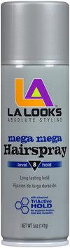 LA Looks™ Mega Mega Level 8 Hold Hairspray 5 oz. Can