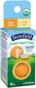 Stonyfield® Peach-Vanilla Organic Frozen Yogurt Pearls 1.7 fl. oz. Box