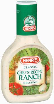 Henri's Classic Chef's Recipe Ranch Dressing 16 Oz Plastic Bottle
