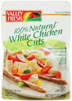 Valley Fresh® 100% Natural White Chicken Cuts 7 oz. Pouch.