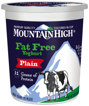 Mountain High® Plain Fat Free Yoghurt 32 oz. Tub