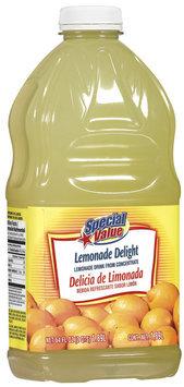 Special Value Lemonade Delight Beverage 64 Oz Plastic Bottle