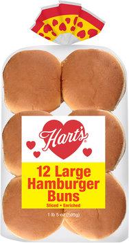 Hart's® Sliced Enriched Large Hamburger Buns 12 ct Package