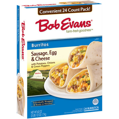 Bob Evans® Sausage Egg & Cheese Burritos 24 ct Box