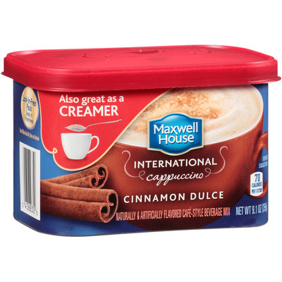 Maxwell House International Cinnamon Dulce Cappuccino Cafe-Style Beverage Mix 9.1 oz. Tub