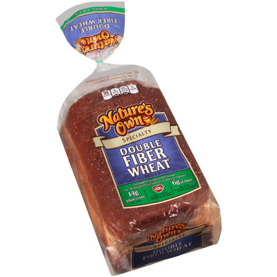Nature's Own® Double Fiber Wheat Specialty Bread 24 oz. Bag