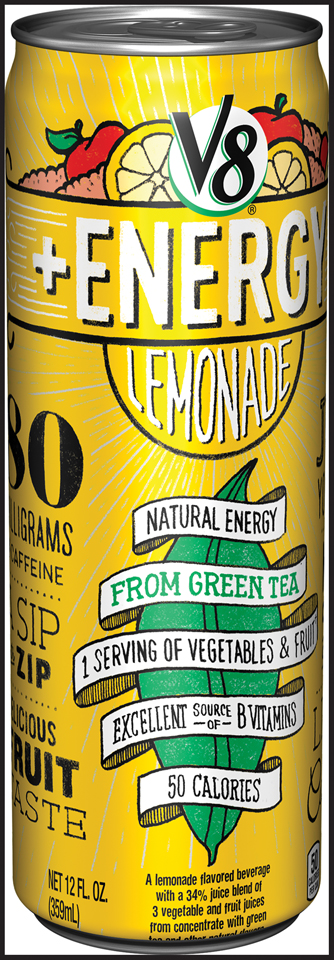 V8® +Energy Lemonade Juice