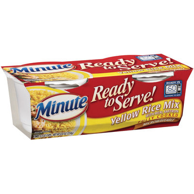 Minute Ready to Serve Yellow Mix 4.4 Oz Rice 2 Ct Cups