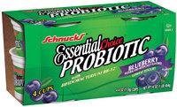 Schnucks Essential Choice Probiotic Blueberry 4 Oz Cups Lowfat Yogurt 4 Ct Pack