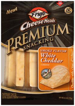 Frigo® Cheese Heads® Smoke Flavor White Cheddar Premium Snacking Cheese Sticks 10 ct Bag