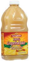 Springfield 100% Grapefruit  Juice 64 Fl Oz Plastic Bottle