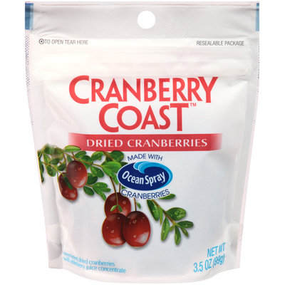 Ocean Spray® Cranberry Coast™ Dried Cranberries 3.5 oz. Pouch