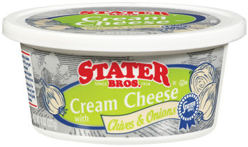 Stater Bros. W/Chives & Onions Cream Cheese 8 Oz Plastic Container