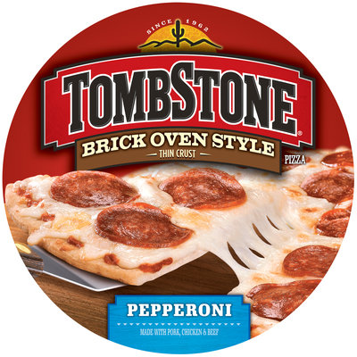 TOMBSTONE Brick Oven Style Thin Crust Pepperoni Pizza 17 oz.