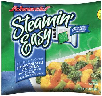 Schnucks® Steamin' Easy™ Freshly Frozen Florentine Vegetables in Cheddar Cheese Sauce 12 oz.